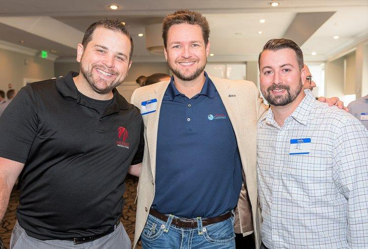 Three men at a YP event